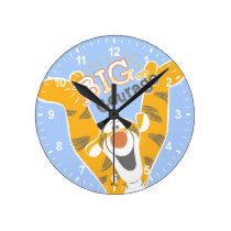 Tigger   Big Courage Round Clock