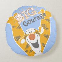 Tigger   Big Courage Round Pillow