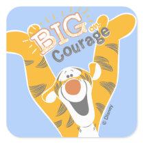 Tigger   Big Courage Square Sticker