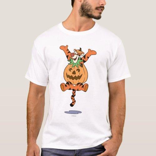 Tigger in Pumpkin Costume T_Shirt