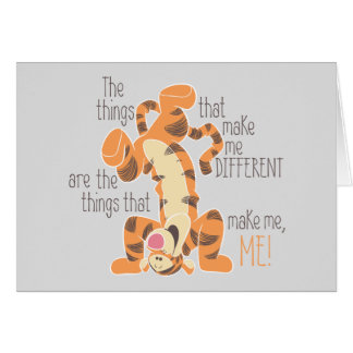 Tigger | Make Me, Me Quote Card