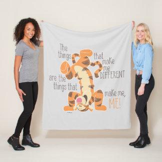 Tigger | Make Me, Me Quote Fleece Blanket