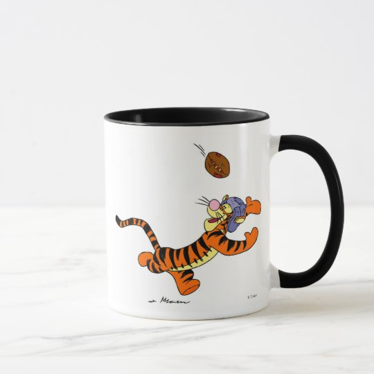 Tigger Playing Football Mug