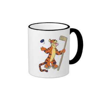 Tigger playing hockey ringer mug