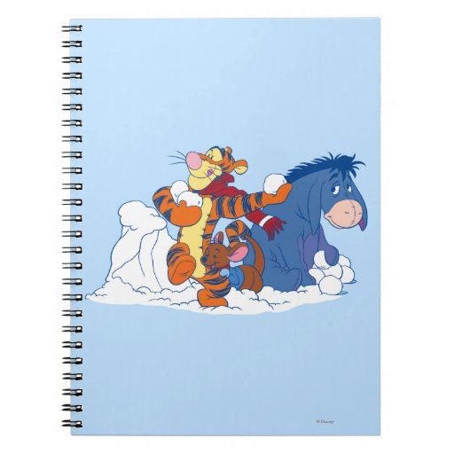 Tigger, Roo, and Eeyore Spiral Notebooks