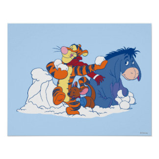 Tigger, Roo, and Eeyore Poster