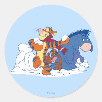 Tigger, Roo, y Eeyore Etiqueta