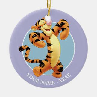Tigger   Standing Add Your Name Ceramic Ornament