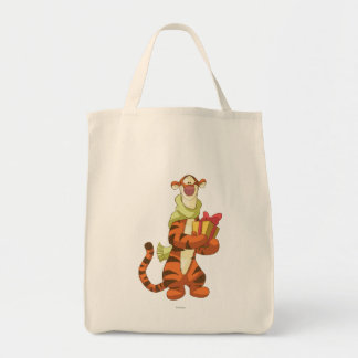 Tigger With Gift Grocery Tote Bag
