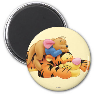 Tigger y Roo Imán Redondo 5 Cm