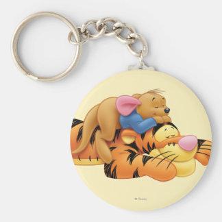 Tigger y Roo Llavero Redondo Tipo Pin