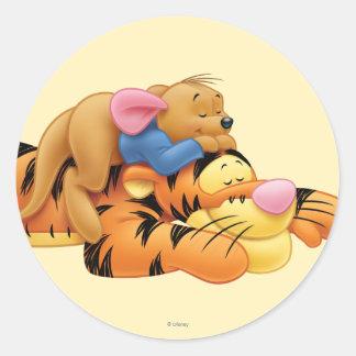 Tigger y Roo Pegatina Redonda