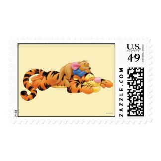 Tigger y Roo Sello Postal