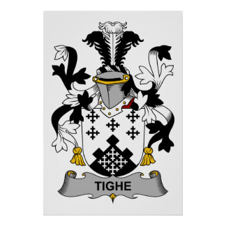 Tighe Family Crest Poster