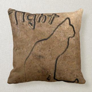 Tight Cat Throw Pillow