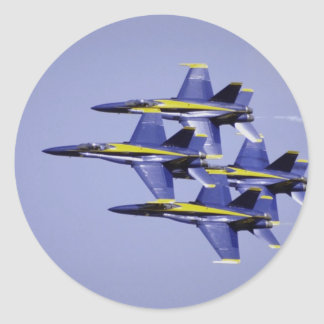 Tight diamond formation, Blue Angels, El Toro, Cal Classic Round Sticker