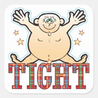 Tight Fat Man Square Sticker