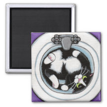 Tight Fit v.3 - Whimsical Cat Magnet