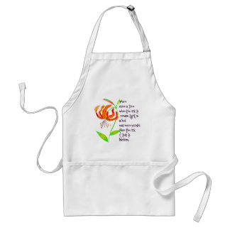 Tight in a Bud Adult Apron