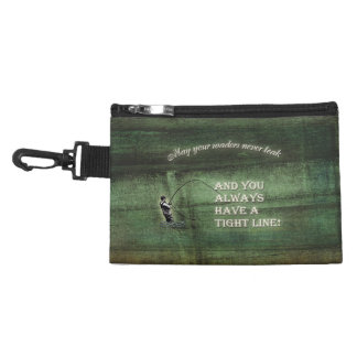 Tight line | waders never leak, Fly fishing wish Accessory Bags