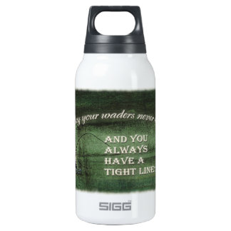 Tight line | waders never leak, Fly fishing wish Insulated Water Bottle