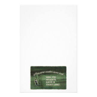 Tight line   waders never leak, Fly fishing wish Stationery