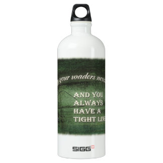 Tight line | waders never leak, Fly fishing wish Water Bottle