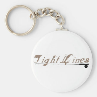 Tight Lines Basic Round Button Keychain