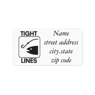 Tight Lines for fishermen Personalized Address Labels