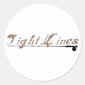 Tight Lines Round Sticker