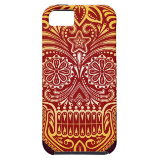 Tight Red and Yellow Sugar Skull iPhone 5 Cases
