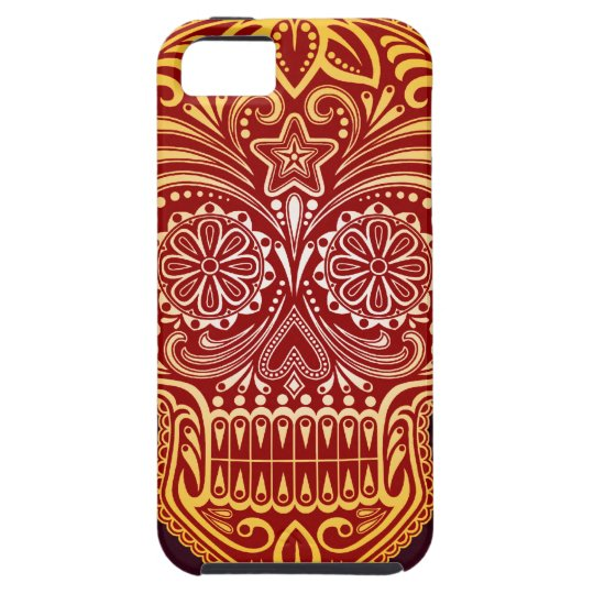 Tight Red and Yellow Sugar Skull iPhone SE/5/5s Case