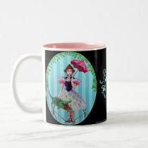 Tight Rope Girl Two-Tone Coffee Mug