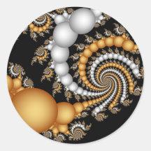 Tight Squeez- Fractal Art Round Sticker