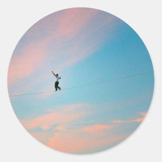 Tightrope Classic Round Sticker