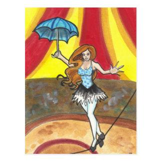 Tightrope Walker Circus art fantasy postcards