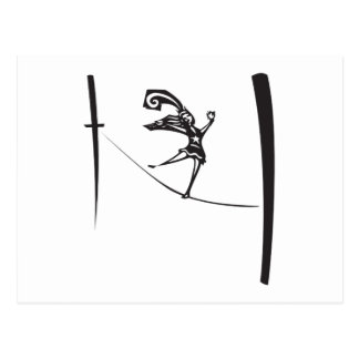 Tightrope Walker Postcard