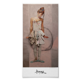 """""""Tightrope walker With Hoop"""", by Ruiperez Poster"""