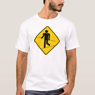 Tightrope Walker Zone Highway Sign T-Shirt