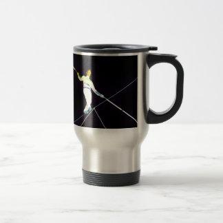 tightrope walking 15 oz stainless steel travel mug