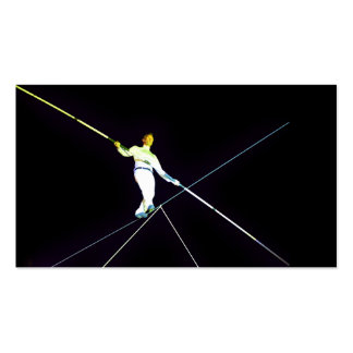 tightrope walking - funambulism Double-Sided standard business cards (Pack of 100)