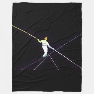 tightrope walking - funambulism fleece blanket