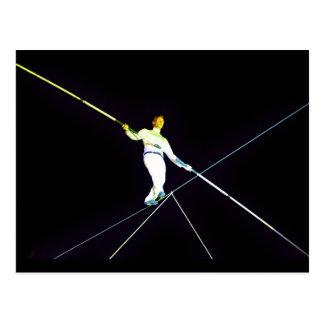 tightrope walking postcard