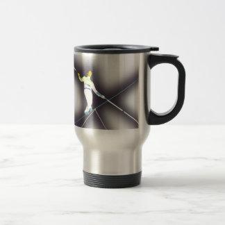 tightrope walking travel mug
