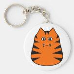 Tigr - tigre lindo llavero redondo tipo pin