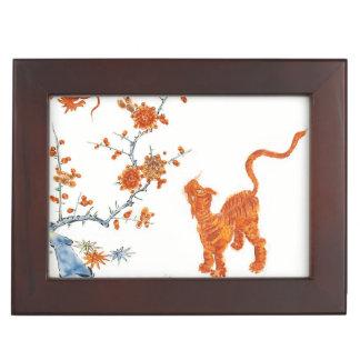 Tigre 1775 del dragón de Kakiemon Cajas De Recuerdos