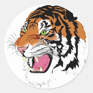 Tigre 2010 pegatina redonda