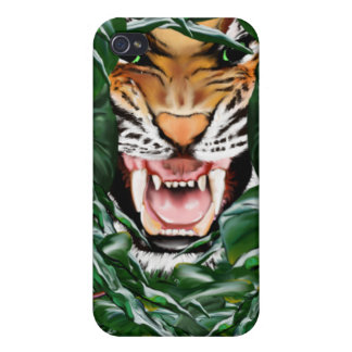 Tigre a través de las hojas 441 iPhone 4 cárcasas
