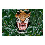 Tigre a través de los hoja-Posters