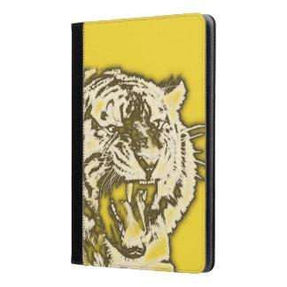 Tigre abstracto amarillo el gruñir del Grunge